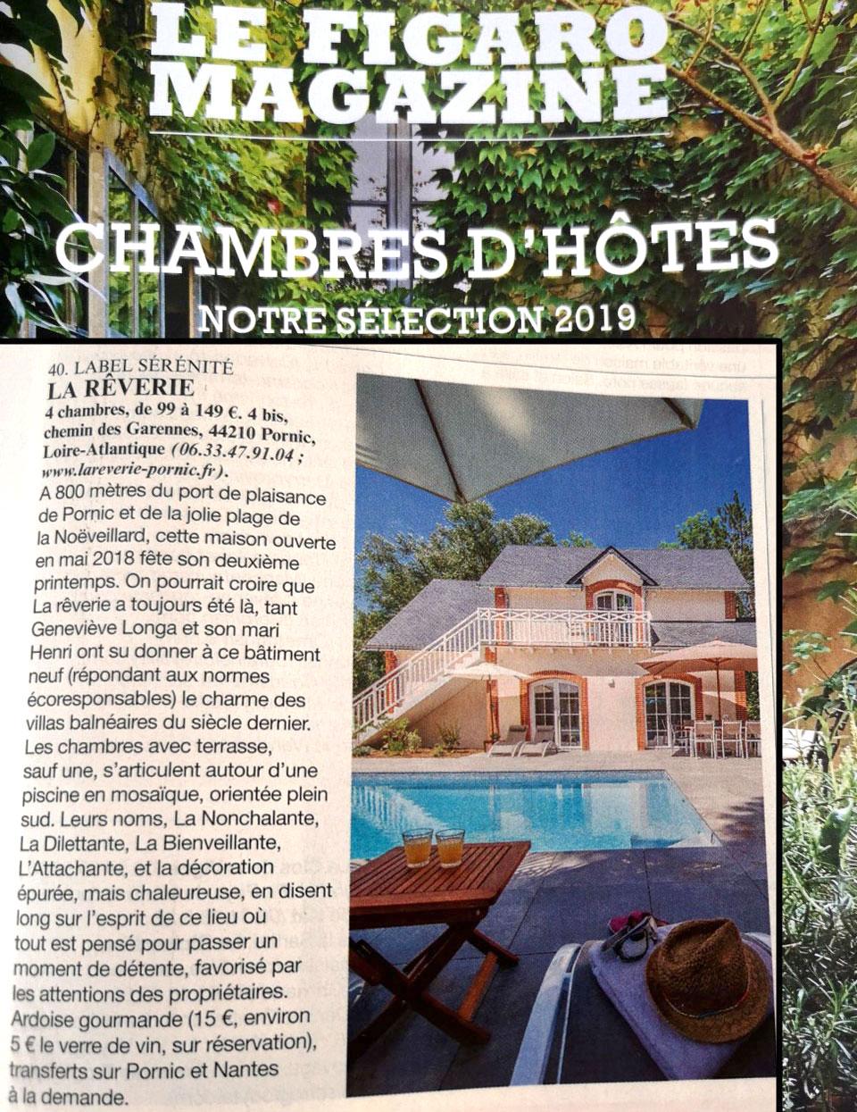 Figaro Magazine maison d'hôte La Rêverie Pornic